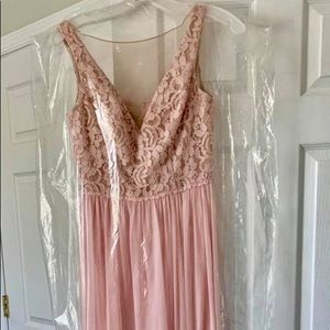 David's Bridal Blush Gown